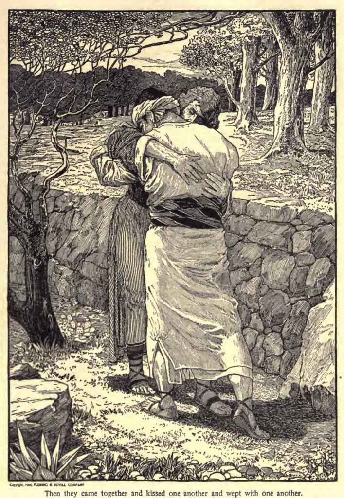 The Parting of Jonathan and David Louis Rhead The Psalms Of David