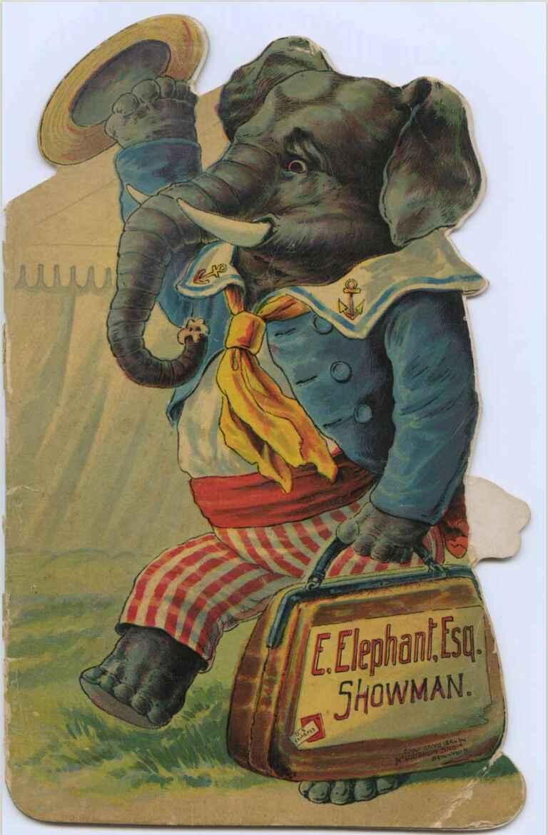 E Elephant Esq Showman Unidentified Artist E Elephant Esq Showman