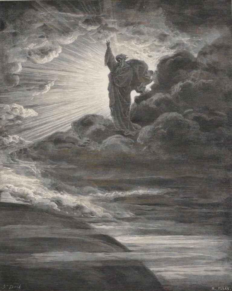 God Creating Light Gustave Dore La Sainte Bible Selon La Vulgate