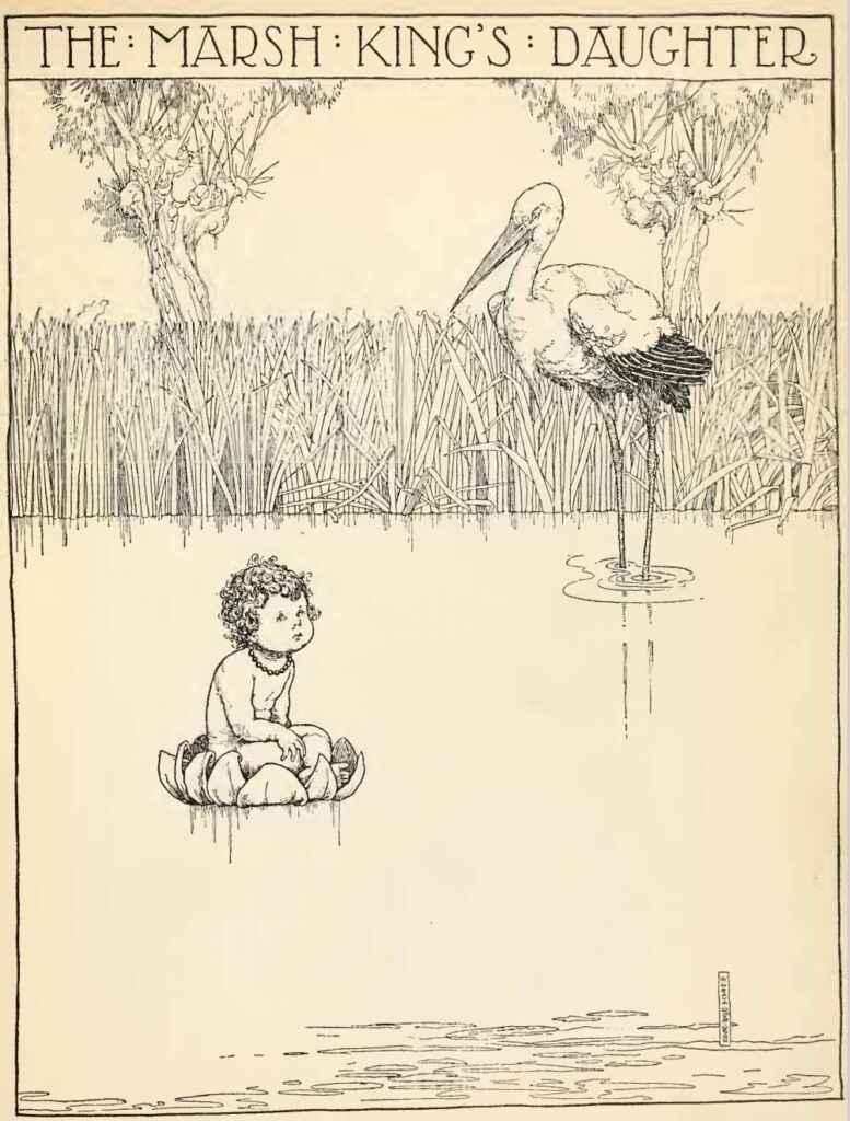 The Marsh Kings Daughter Louis Rhead Hans Andersens Fairy Tales