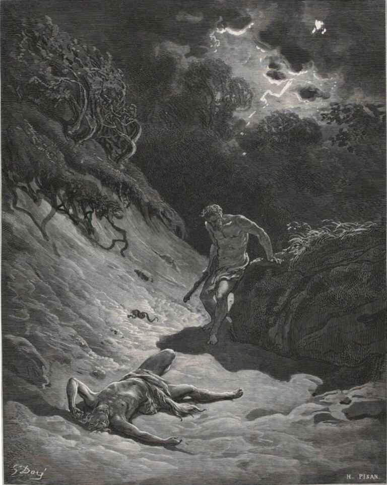 The Murder Of Abel Gustave Dore La Sainte Bible Selon La Vulgate