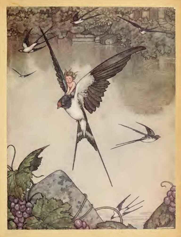 Tommelise Thumbelina Louis Rhead Hans Andersens Fairy Tales